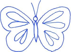 трафарет бабочка бесплатно