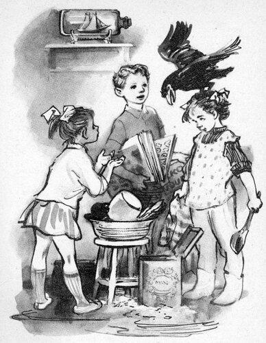 Чёрвен чувствовала, как когти ворона вцепились в ее вьющиеся волосы, но продолжала блаженно улыбаться.- Вот бы он снес мне в волосы яйцо!