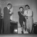 Edith Piaf, Charles Aznavour and Eddie Constantine