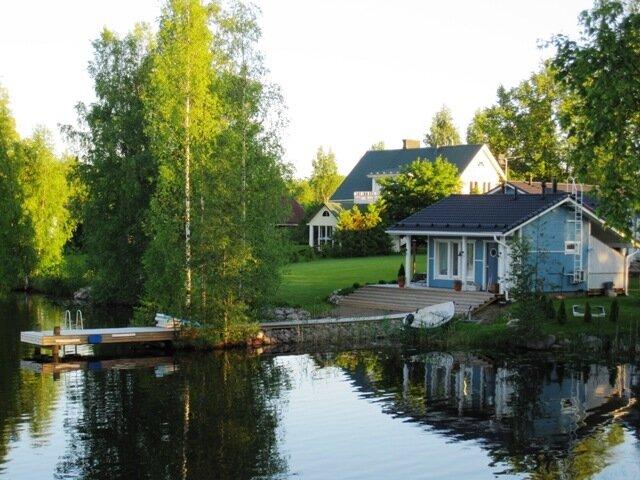 дача Финляндия Варкаус природа озеро Уннукка