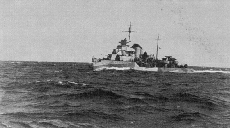 Эсминец проекта 7 «Сокрушительный». Северный флот. 1942 год.