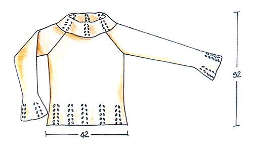 Пуловер с ажурным узором спицами схема