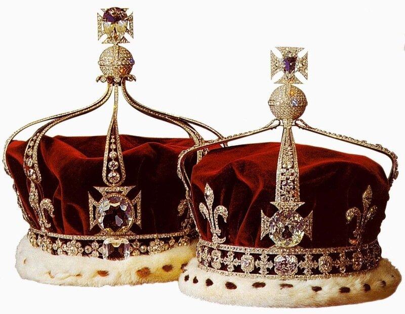 Официальные Короны Елизаветы II и королевы-матери