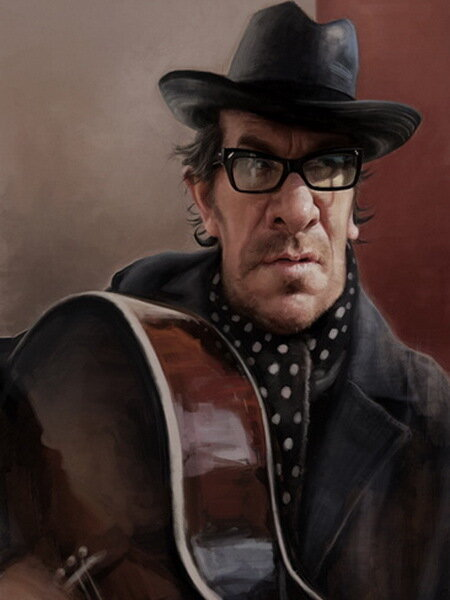 Карикатуры Джейсон Сэйлер (Jason Seiler) Элвис Костелло (Elvis Costello)