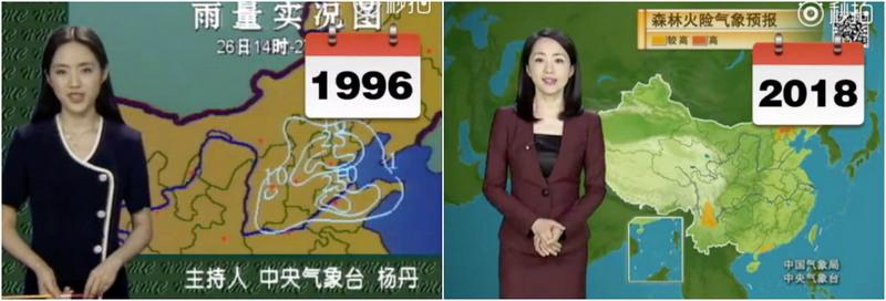 Телеведущая из Китая практически не изменилась за 22 года