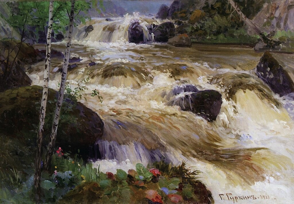 Река Куюм. 1911