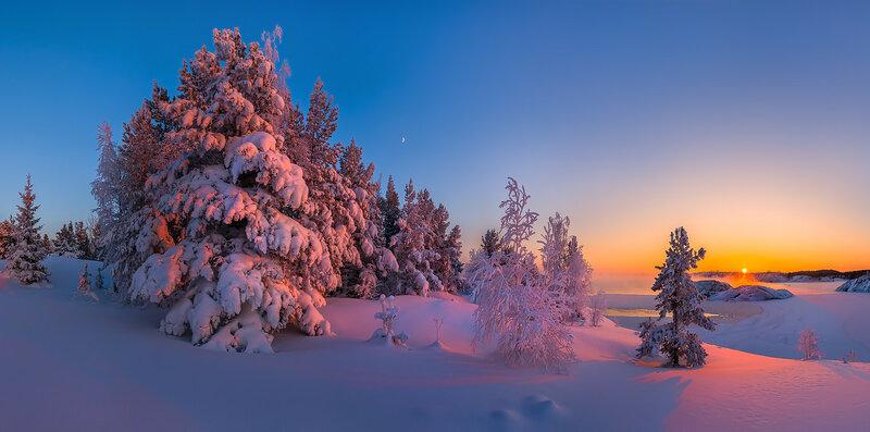 Зимняя сказка Ладожского озера.