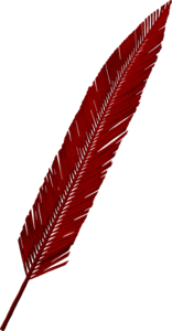 Feathers red