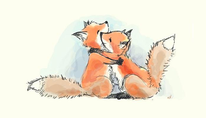 — Лисёнок, — сказал лисёнок лисёнку, — ты помни, пожалуйста, что если тебе тяжело, плохо, грустно, с