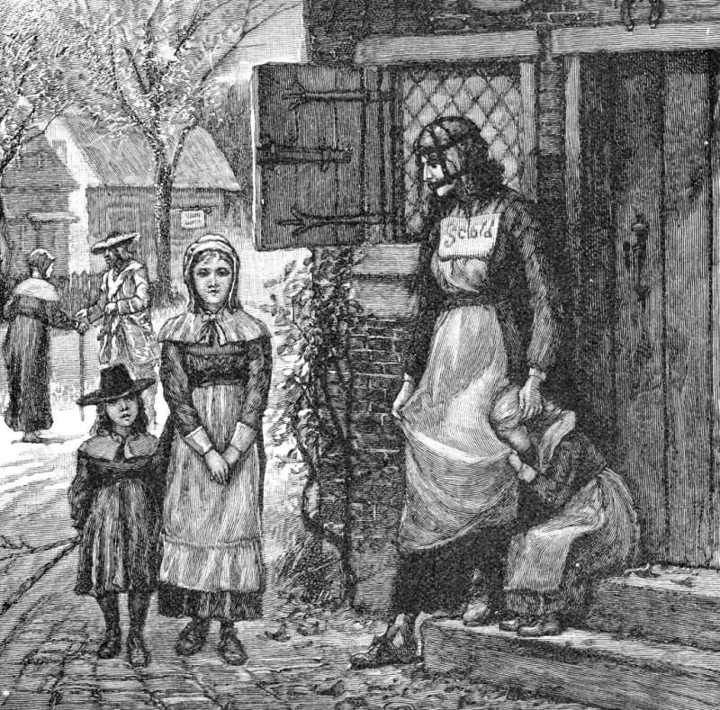 Мало того что на провинившихся женщин надевали такие маски, их еще и прилюдно унижали. Женщину в «уз