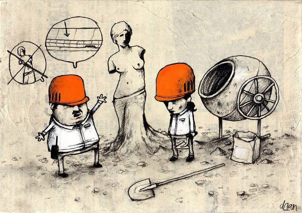Работы художника, который не боится высказывать своё мнение о современном обществе