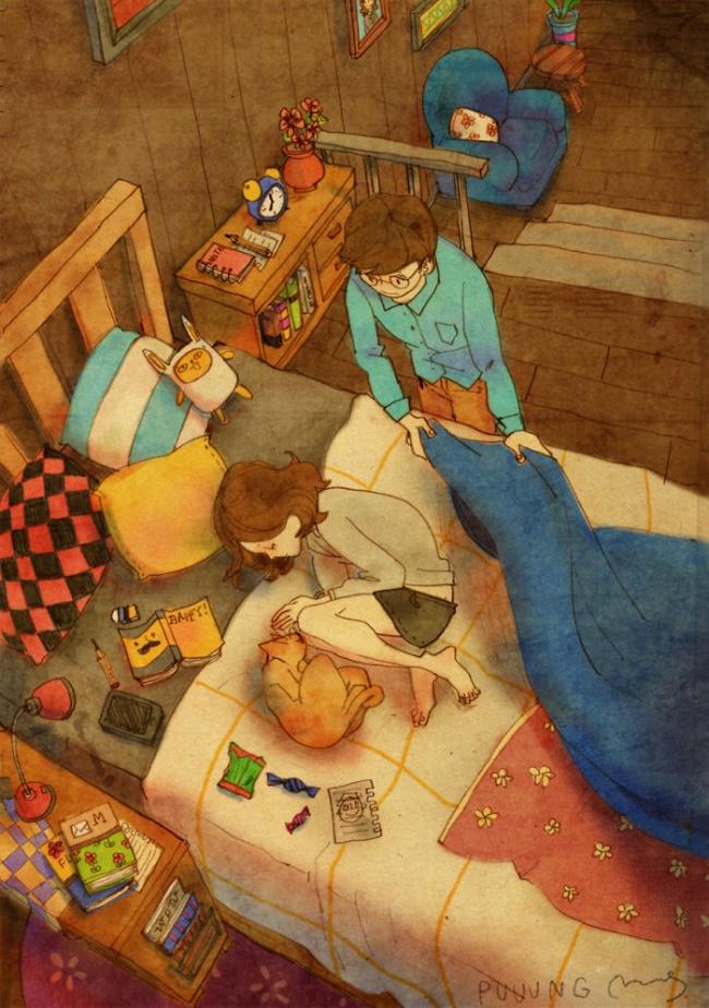 Сладкие иллюстрации о любви, которые понравятся даже тем, кто такое не любит