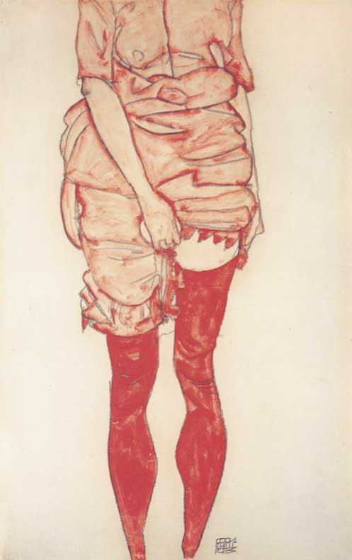 Эротические рисунки австрийского художника Эгона Шиле (11 фото) 18+