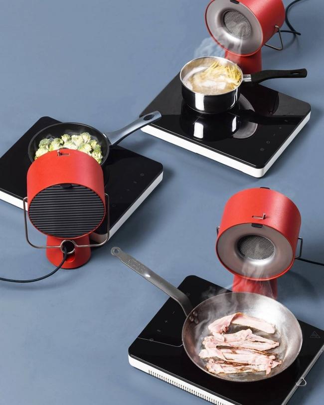 © yankodesign     Эта стильная вытяжка предлагается для использования намаленьких кухнях