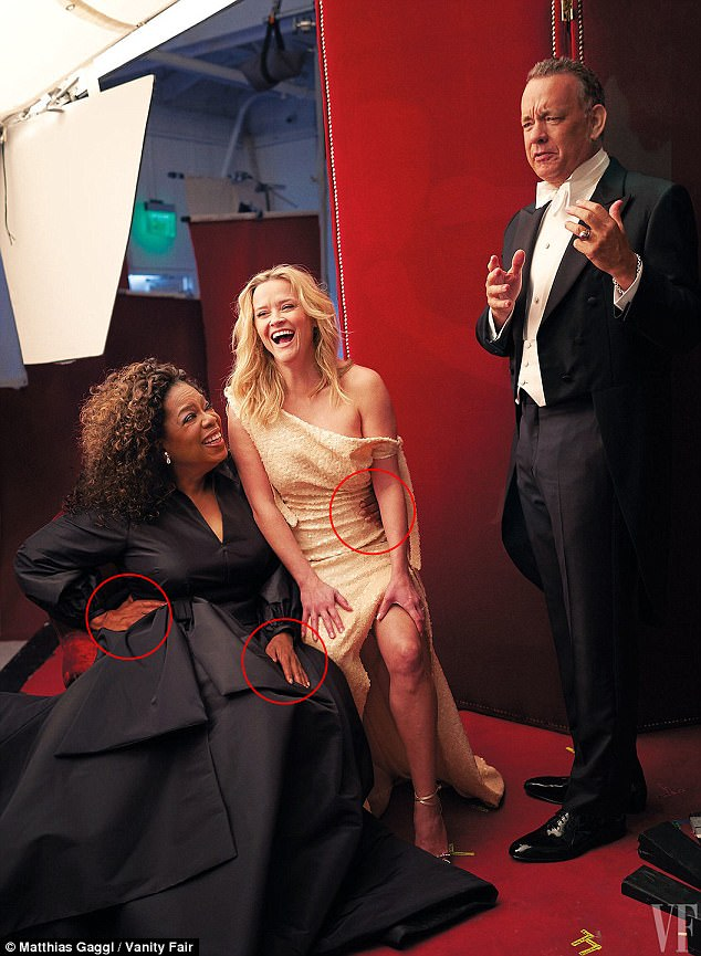 На обложке Vanity Fair оказались трехрукая Опра Уинфри и трехногая Риз Уизерспун (6 фото)
