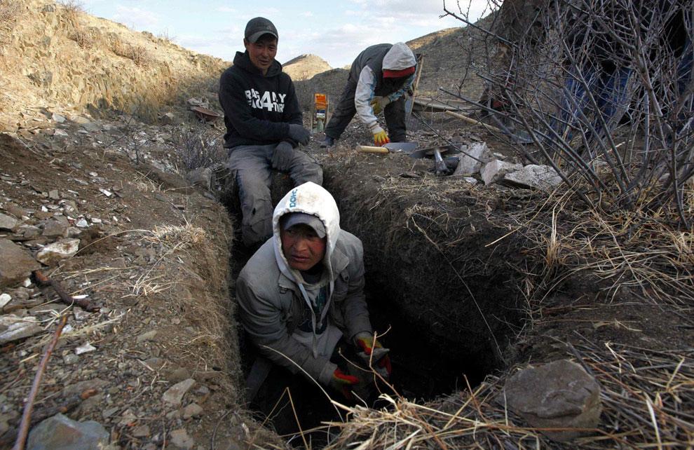 """Как добывают золото в Монголии: """"черные копатели"""""""