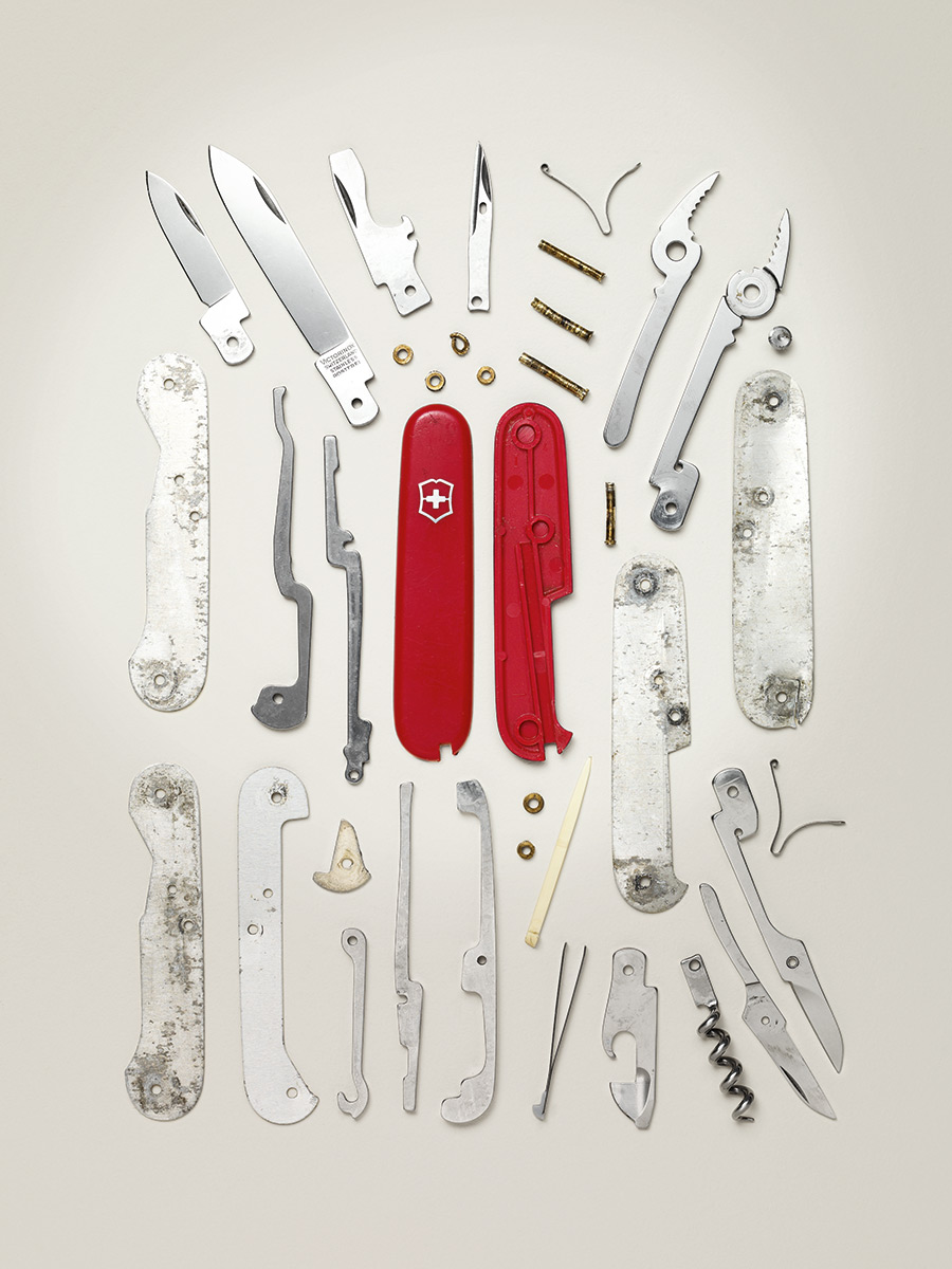 Swiss Army Knife, 2000s; Victorinox; Component count: 38.