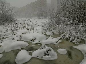 Снег на р.Яузе