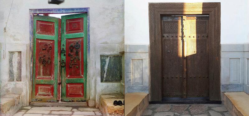 Входные врата в царскую усыпальницу Богоэддин. Бухара. 1911  b 2017 год. №21873.jpg