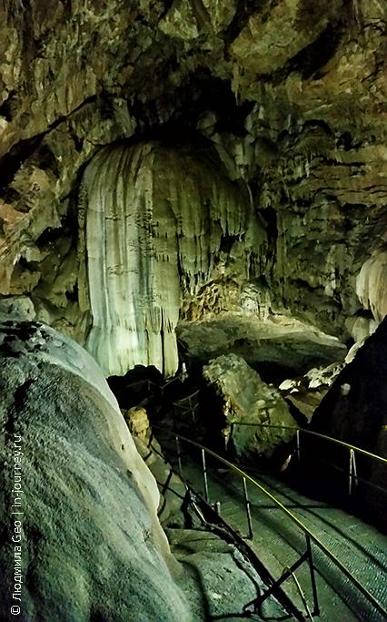 Новоафонская пещера зал с фонтаном