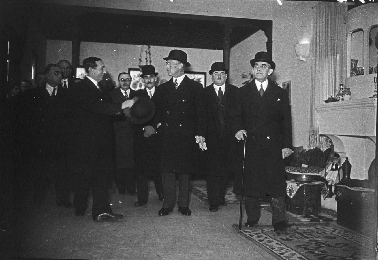 Павильон Греции. Визит короля Георга II (ноябрь 1937)