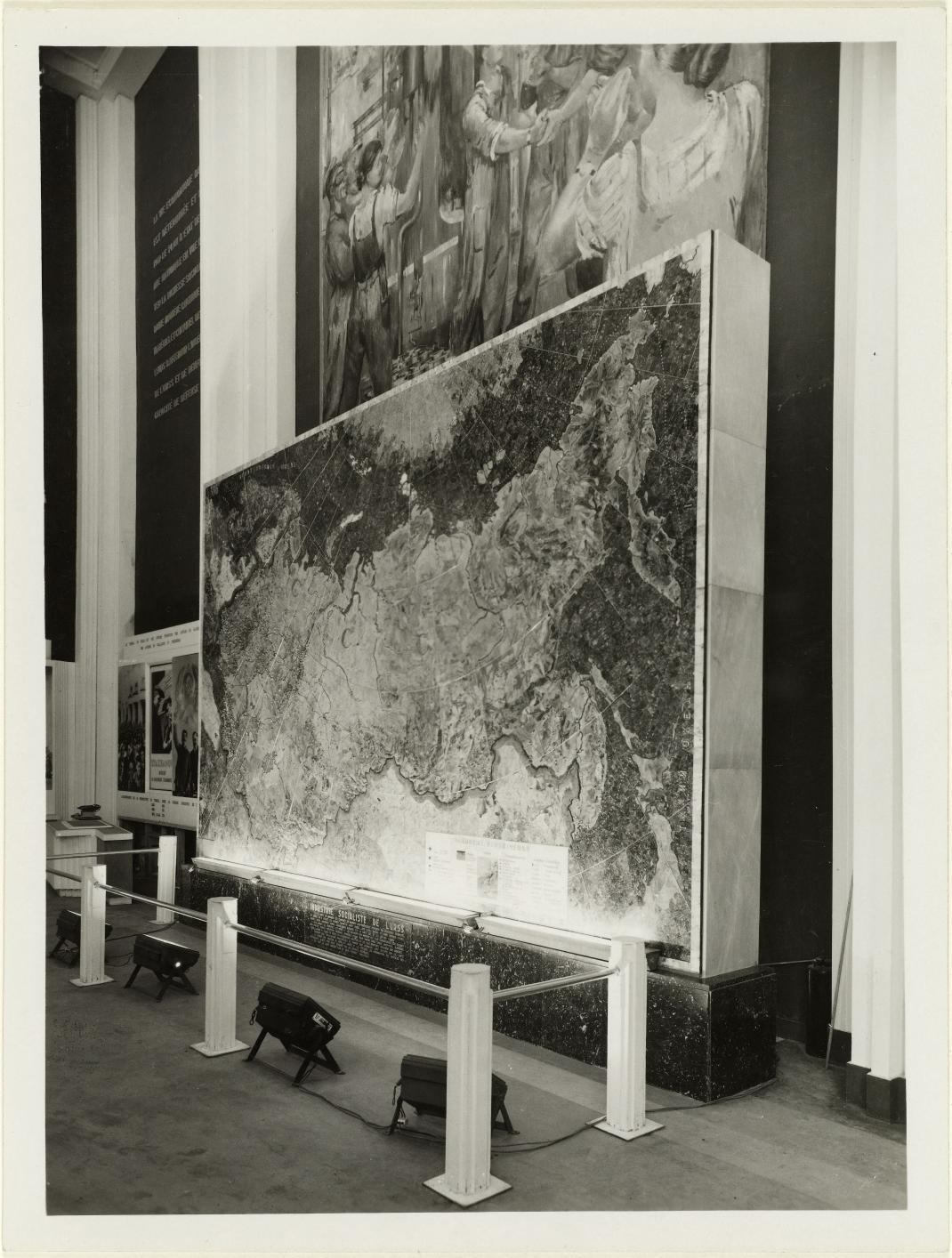 Карта СССР. Мозаика из драгоценных и полудрагоценных камней