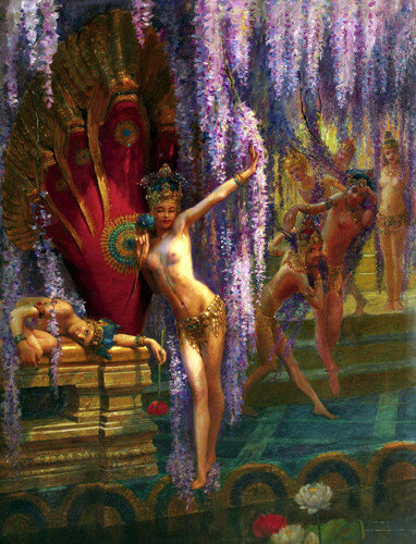 Gaston Bussière (1862 – 1929, French)  Exotic Dancers