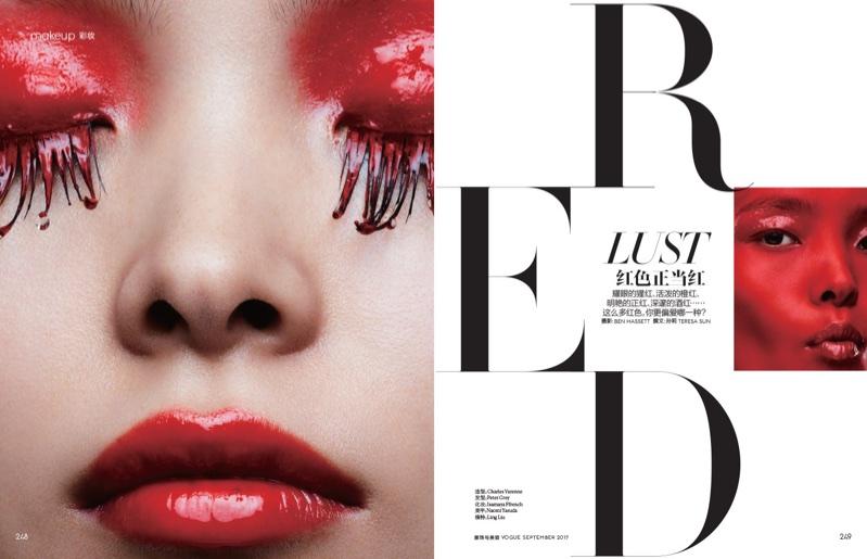 Линг Лю в фотосессии для китайского Vogue (6 фото)