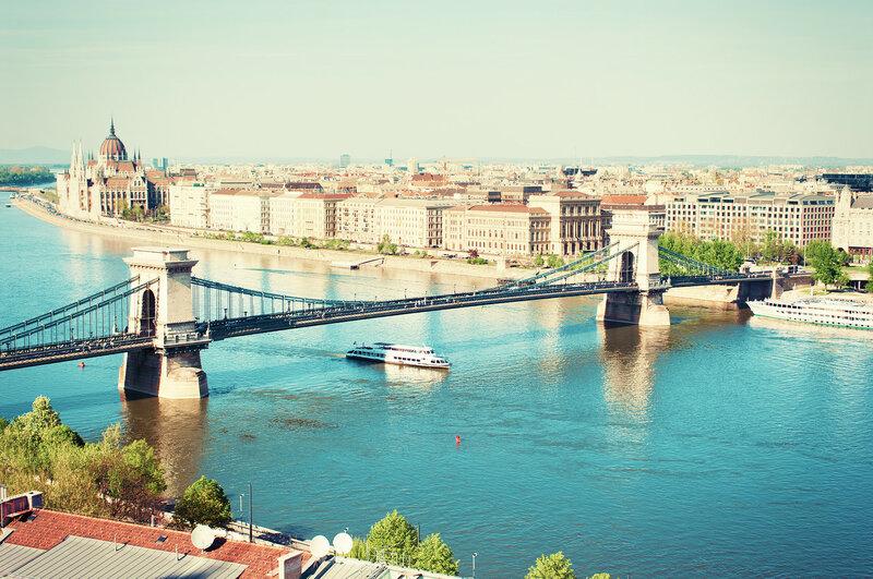 Будапешт, городской пейзаж в Венгрии, Европа