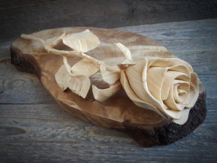 Из деревянного бруска