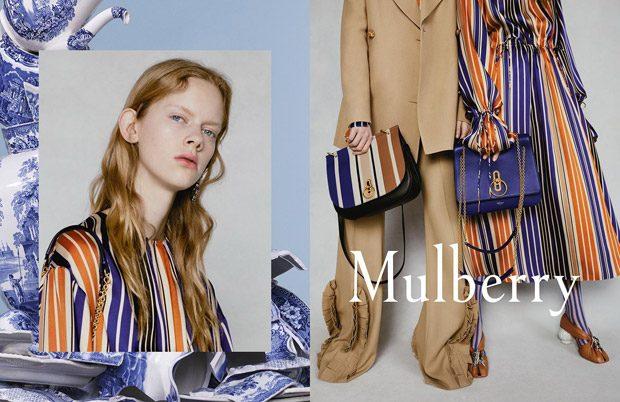 Adele Taska, Freya Lawrence & Lucan Gillespie Model Mulberry SS18