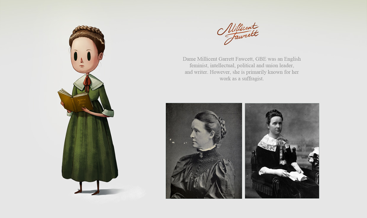 Character Design Project: Remarkable Women by Marija Tiurina