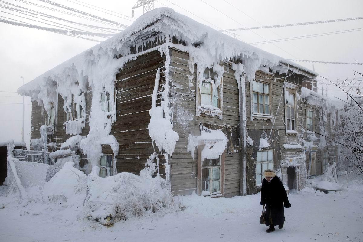 А в Якутске холода: Такие вот сибирские пейзажи