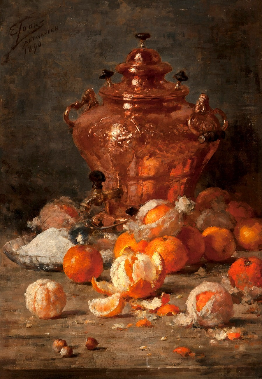Still Life with Oranges and Copper Samovar , 1890
