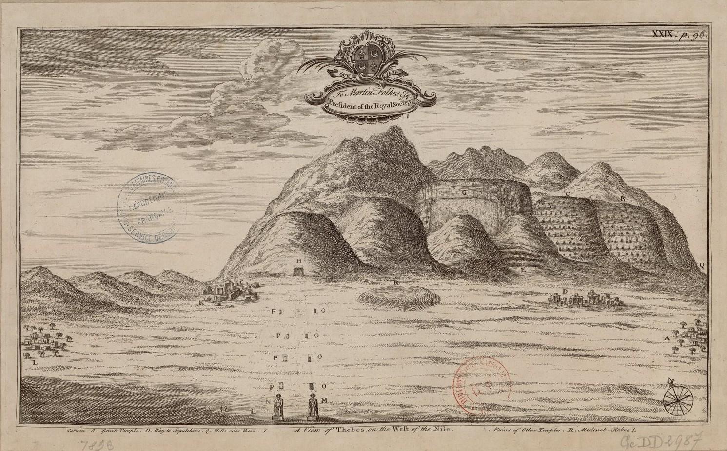 Вид на Фивы к западу от Нила