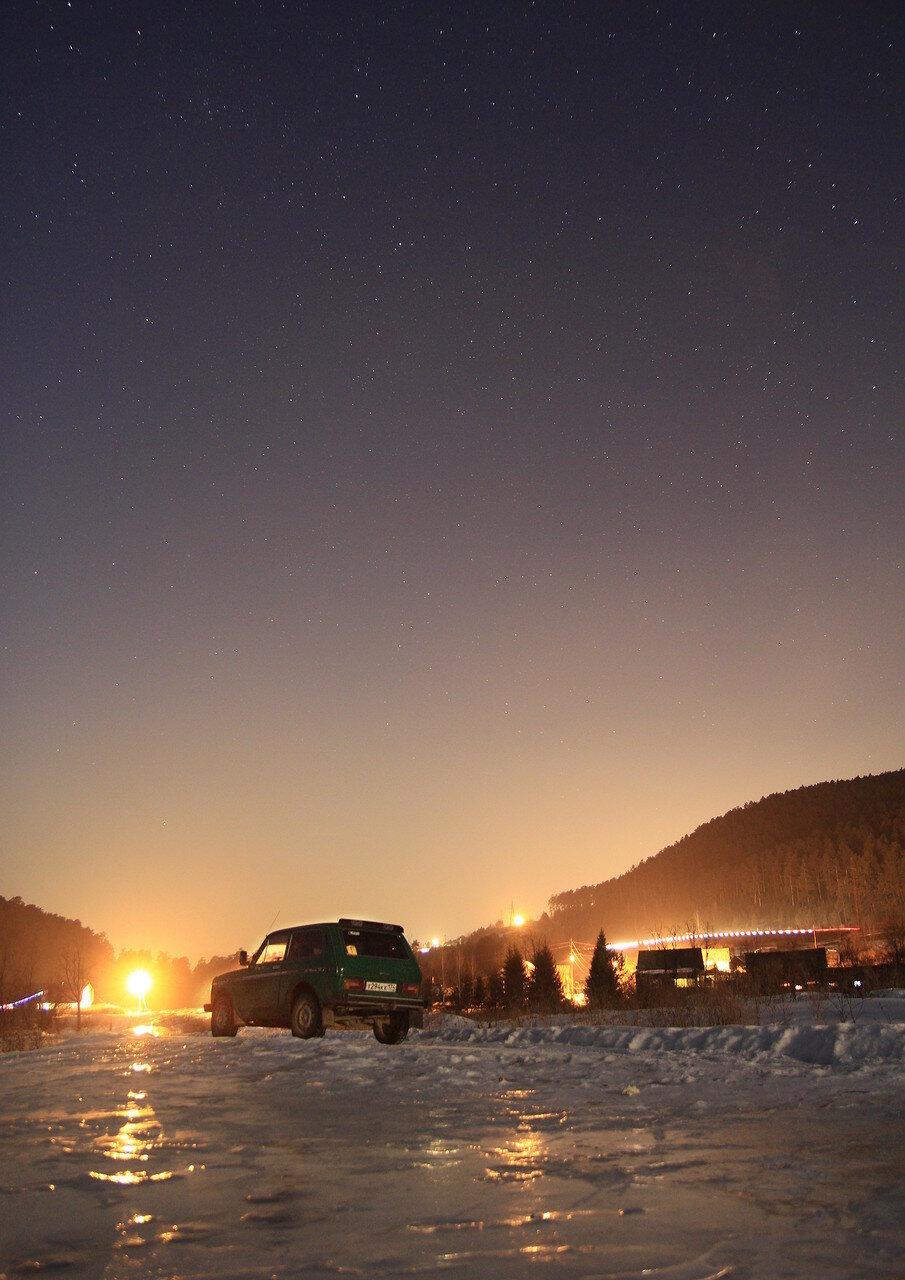 Коноплянка, гора Моховая ночью