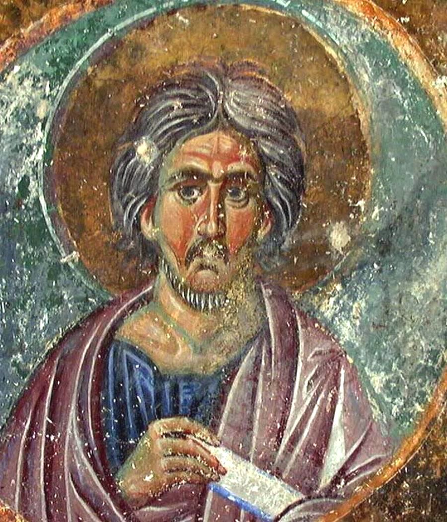 Святой Пророк Моисей. Фреска монастыря Милешева (Милешево), Сербия. До 1228 года.