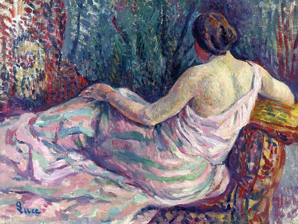 Картинки по запросу woman from behind by maximilien luce art reproduction