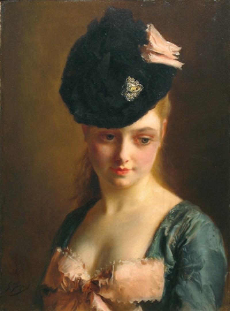 00 Gustave Jean Jacquet - Портрет юной парижанки.jpg