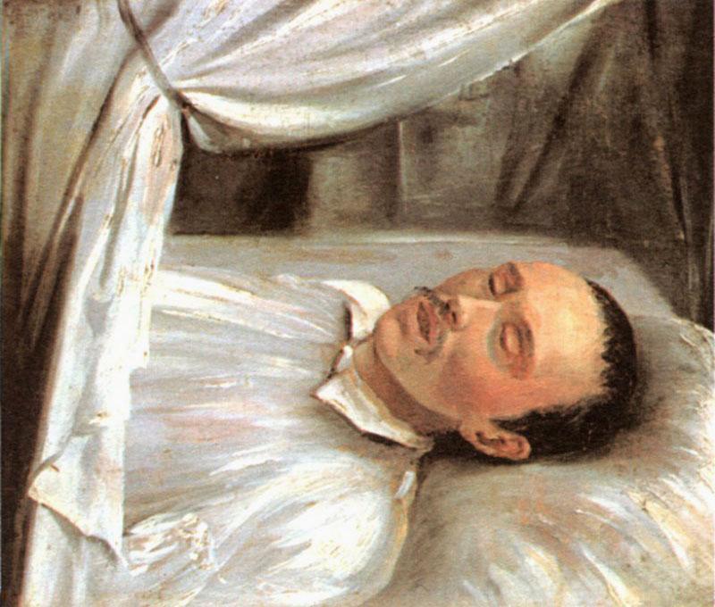 + Р.К. Шведе М. Ю. Лермонтов на смертном одре 1841 год.jpg