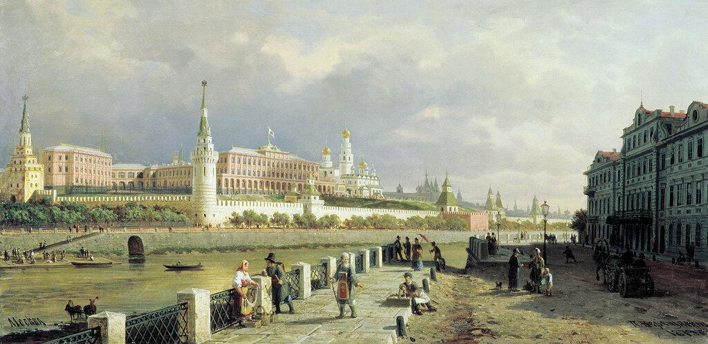 1066.Vereshagin.Petr.Vid.Moskovskogo.kremlia.1879.holst.maslo.53h107.sm.jpg