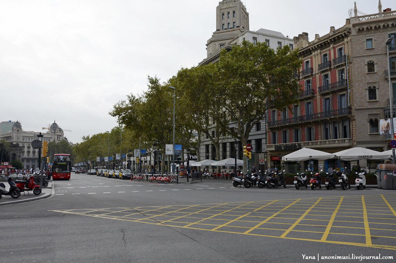 Барселона. Испания. Каталония. Сентябрь 2014
