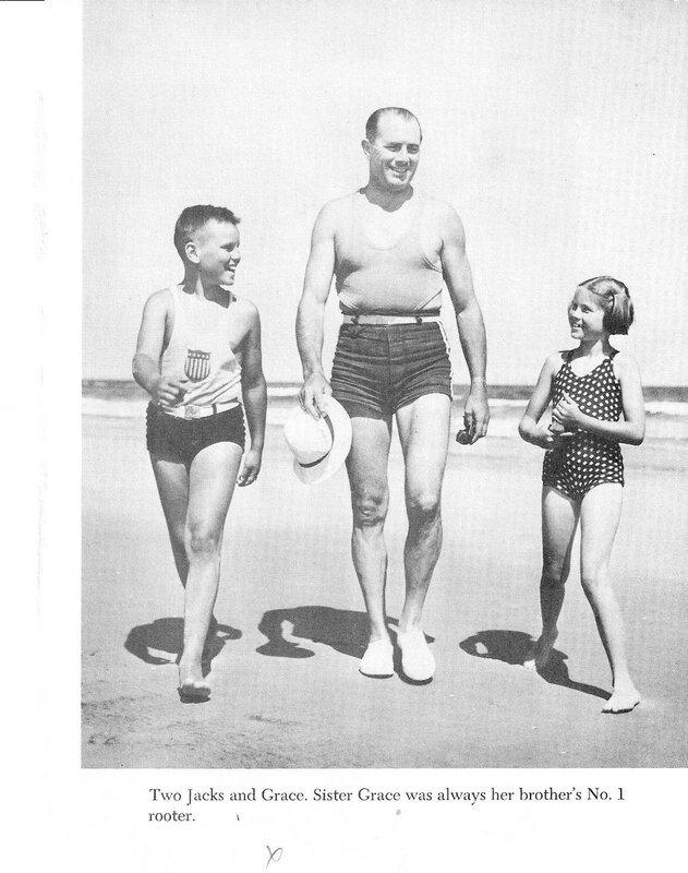 Грейс Келли с братом и отцом