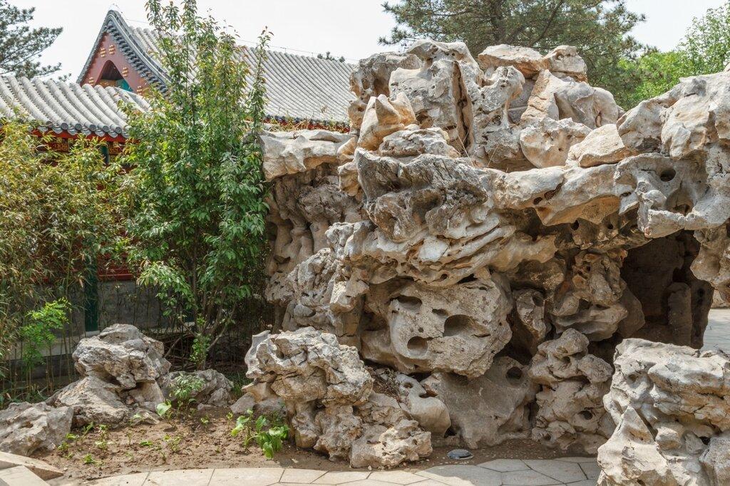 Скала, сад Пекина, парк-выставка садов,