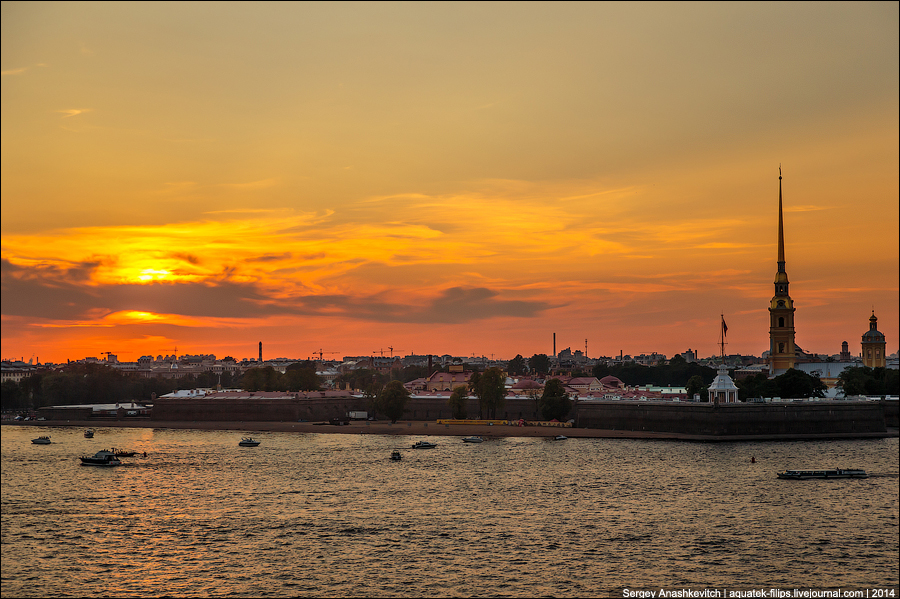 Закат над Питером