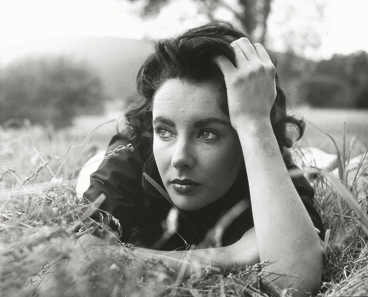 1956. Элизабет Тейлор на съемках фильма «Гигант»