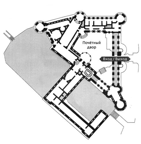 Замок шантийи план 2 ого этажа