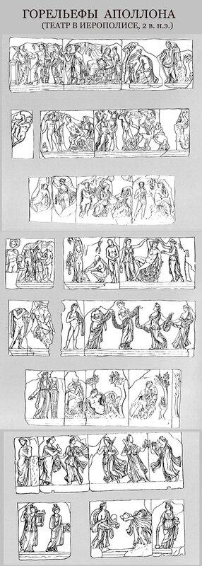 Амфитеатр в Иерополисе, Горельефы Аполлона и Артемиды