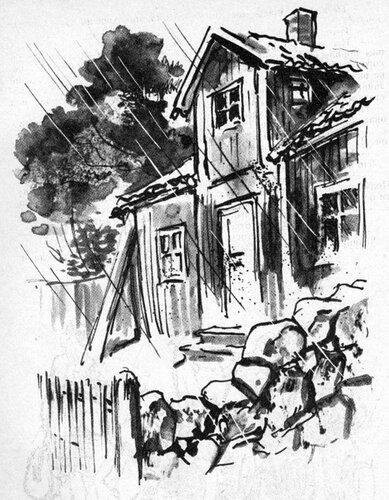 Это был красный двухэтажный дом, и с первого взгляда было видно: крыша протекала. И все же дом мне понравился, как только я его увидела. Папа же, напротив, насмерть перепугался, что было видно по его лицу.