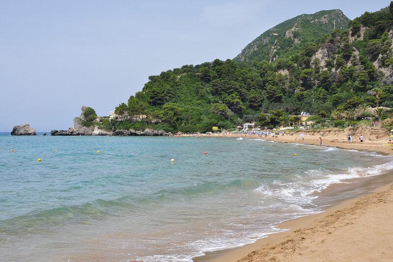 Пляж в Глифаде, Корфу